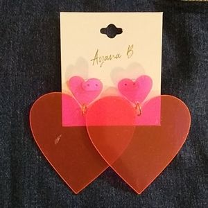 Jewelry - Big heart shaped earrings